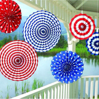 6pcs Set Hand Fan Flowers Colorful Wheel Tissue Paper Fans Flowers Lanterns Party Craft For Birthday