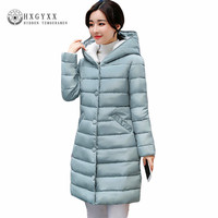 Winter Jacket Women 2017 New Lamb Wool Hat Cotton Parka Slim Solid Color Thick Hooded Long