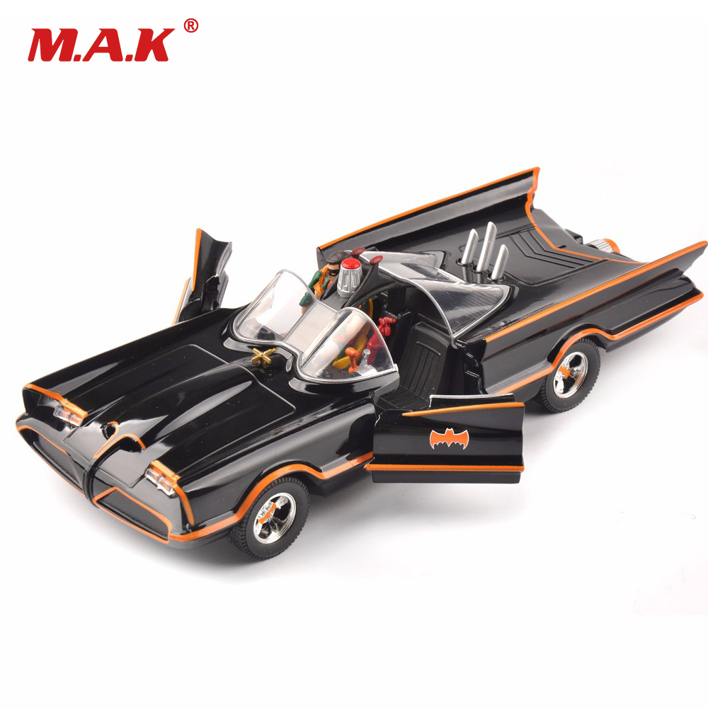 Kids Toys 1/24 Scale diecast Car Model Batman Batmobile Classics TV Lincoln Futura Toys for Children GiftCollection