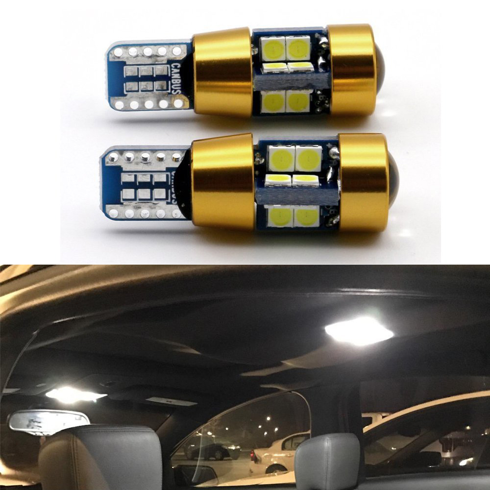 Welback Super Bright Low Power T10 W5W 19 SMD LED Bulbs for Car Interior Dome Map Door Courtesy License Plate Lights Xenon White
