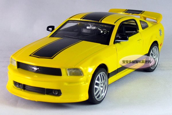 Free Shipping 1 32 Ford Mustang Gt Sports Car Acousto Optic Edition Alloy Model Puzzle Toy Hot Kid In Casts Vehicles