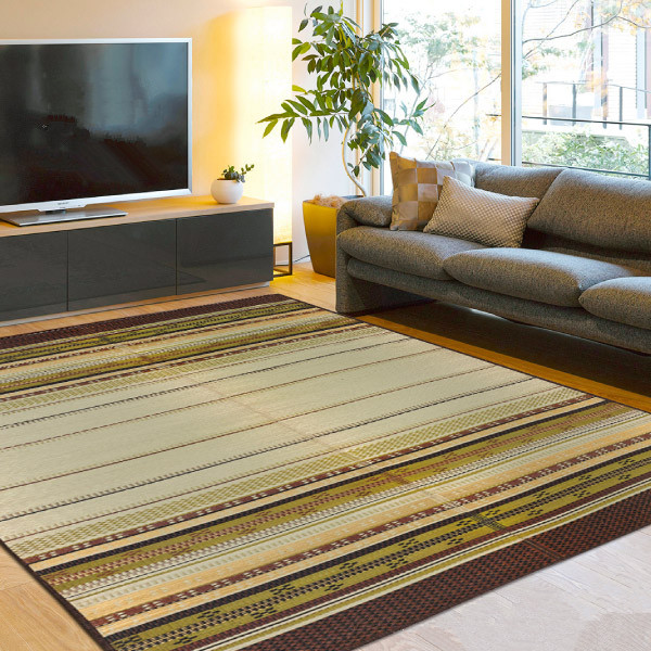 FM29 Floor Large Rug Carpet Square 191x191cm Green Grass Rush Tatami Mat Summer Living Room Mattress