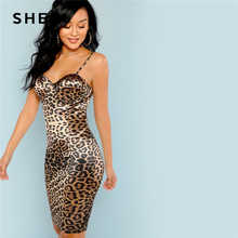 SHEIN Multicolor Sexy Club Leopard Print Bustier Natural Waist Skinny Slip Cami Dress Autumn Party Women Short Dresses - DISCOUNT ITEM  40% OFF All Category
