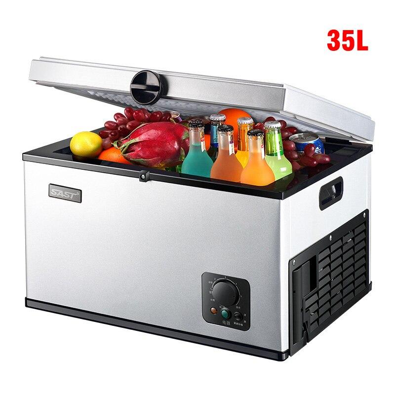 35L 12 V 24 V voiture réfrigérateur compresseur réfrigération Mini réfrigérateur réfrigération congélateur Mini Portable refroidisseur Auto réfrigérateur