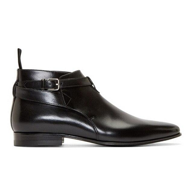 2017 Nuevos Resorte de La Manera de Los Hombres de Cuero Nobuck Botas de Hebilla de La Correa Zapatos ocasionales de Los Hombres Botines Del Dedo Del Pie Puntiagudo Zapatos de Los Hombres Botas Mujer