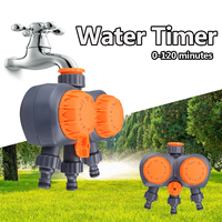2 Head Mechanical Timing Water Flow Switch Automatic Electronic Water Timer Valve Garden Irrigation Controller Watering System