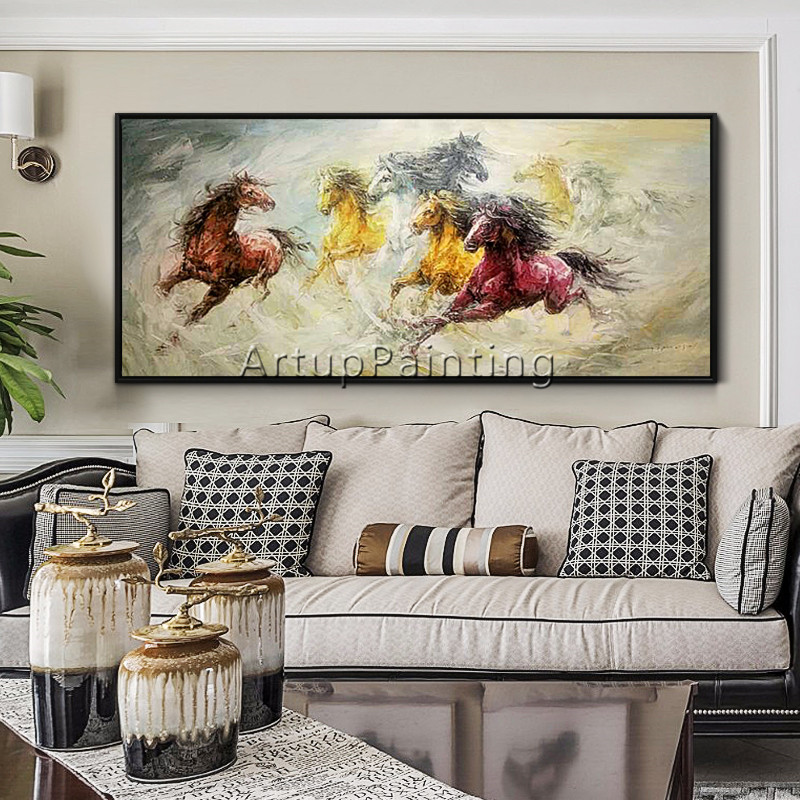Horse Abstract Animal Painting acrylic painting caudros decoracion Palette knife painting Wall art wall Pictures for living roomHorse Abstract Animal Painting acrylic painting caudros decoracion Palette knife painting Wall art wall Pictures for living room