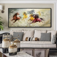 Horse Abstract Animal Painting acrylic painting caudros decoracion Palette knife painting Wall art wall Pictures for living room