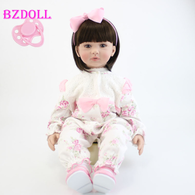 60cm Silicone Reborn Baby Doll Toy Realistic 24inch Vinyl Toddler Princess Babies Doll Birthday Gift Bebe Alive Girls Bonecas