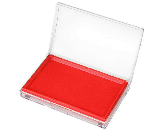 9864 Large Red Stamp Ink Pad Oversized Dedicated Quick Drying Blue