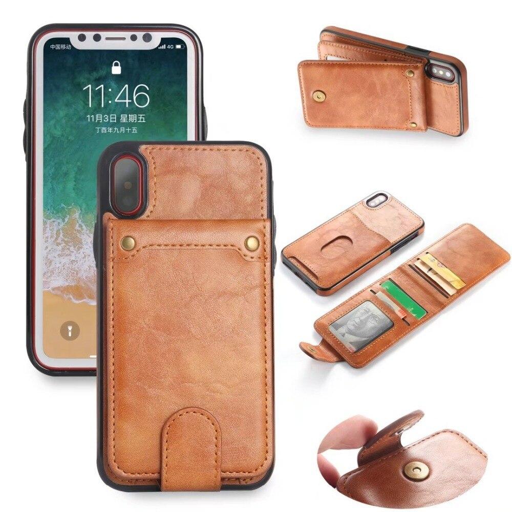 Slittamento Sacchetti Del Telefono Sacchetto Della Carta Del Raccoglitore per iPhone 7 Cavalletto 360 pieno Custodie Protettive per il iphone 6 6 S X 8 Plus per Samsung S8