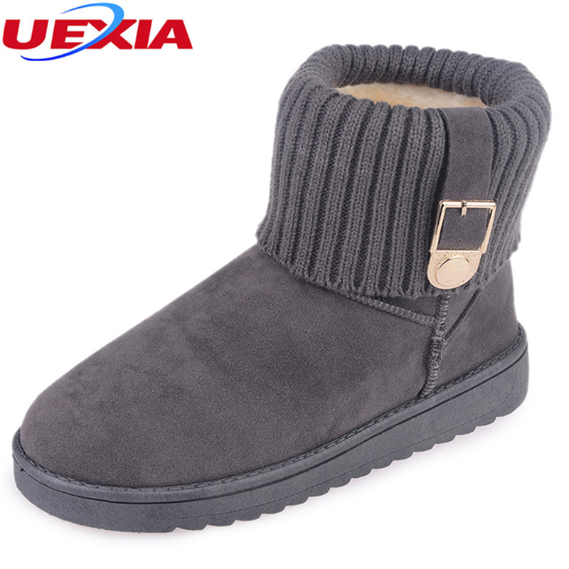 Fashion Winter Snow Ankle Boots Women Warm Winter Shoes Female Round Toe Botas Mujer Casual  Platform Flats Fur Anktiskid Cotton vtota snow boots women winter boots hot warm fur flat platform shoes women slip on shoes for women botas mujer ankle boots e62