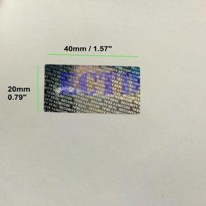 """Image 2 - 1000 Hologram Tamper Proof Warranty Void Label Sticker 1.57*0.79"""" Security Seal"""