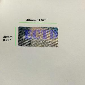 Image 2 - Étiquette autocollante imperméable à labrasion, sceau de sécurité 1000x1.57 pouces, sceau 0.79 x
