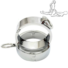 купить Metal Ankle Wrist Cuff Stainless Steel Handcuffs Restraints Fetish Slave BDSM Bondage Adult Sex Shop for Couples Sex Products по цене 1227.53 рублей