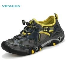 VIPACOS Outdoor Breathable Lightweight Walking Climbing Shoes Men Anti-skid Hiking Shoes Male Aqua Water Trekking Shoes Men boot