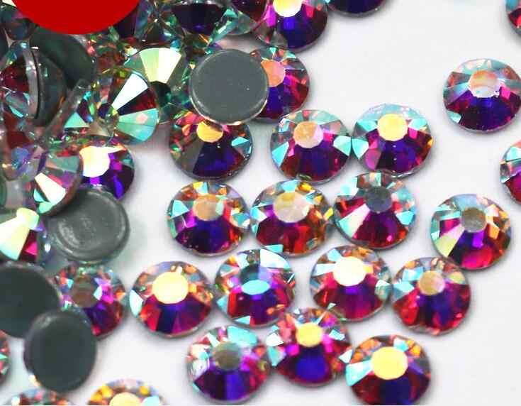AAAAA + למעלה איכות קריסטל AB/קריסטל ברור DMC סופר בהיר זכוכית Strass תיקונים ברזל על Rhinestones עבור בד בגד/נייל אמנות