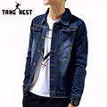 TANGNEST Fashion Men's Denim Jacket 2017 Hot Sale Casual Slim Single Breasted Men Jacket Classic Necessary Men Coat MWJ2023