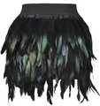 Girls baby fur coat Hallowee cloth skirt Swan Feather Skirt Fully Feather Skirt for Party Event plumage plume Skirt