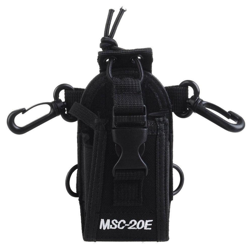 Abbree MSC-20E Portable Talkie Walkie Nylon Housse Titulaire Mains Libres pour Baofeng UV-XR UV-9R Plus UV-82 Talkie Walkie
