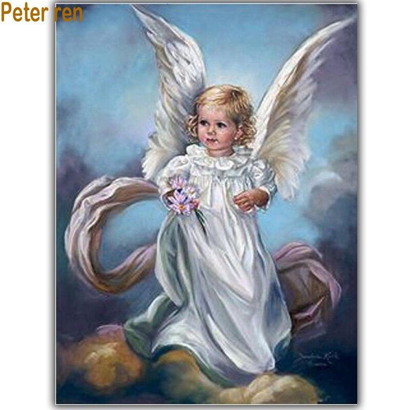 Fly Girl Diy diamond painting Portrait Series diamond embroidery Angel 3d square diamond mosaic icons full embroidery rhinestone
