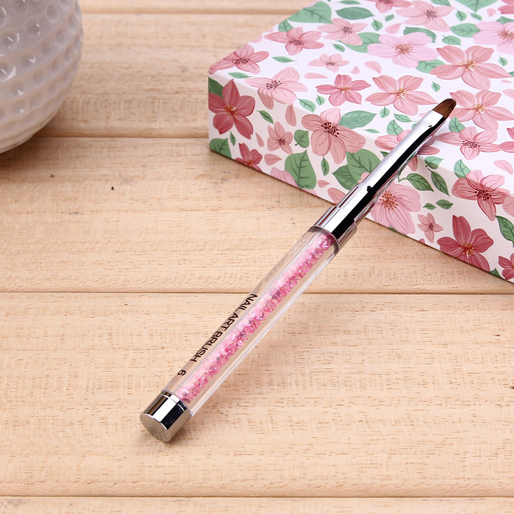 Rhinestone Nail Art Brush Pen Diamond Acrylic Handle Beauty Uv Gel Nail Polish Brush Manicure Salon Brush Nail Brush