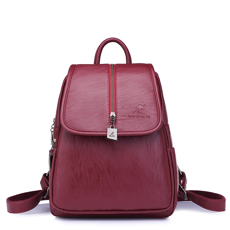Fashion Women Backpacks PU Leather Preppy Style Schoolbags For Teenagers Girls Ladies Travel Top handle Bags