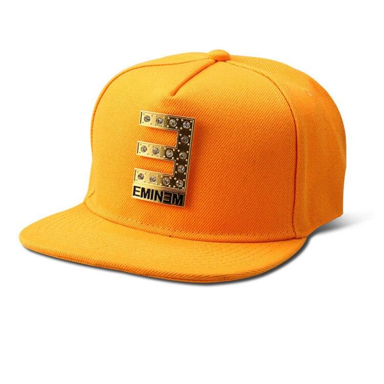 Commercio all ingrosso di Cotone Diamante E EMINEM Cappelli di Snapback  uomini donne Gorras Bling Dorato Logo Berretti Da Baseball sport cappello  hip hop in ... a27afc2ec81d