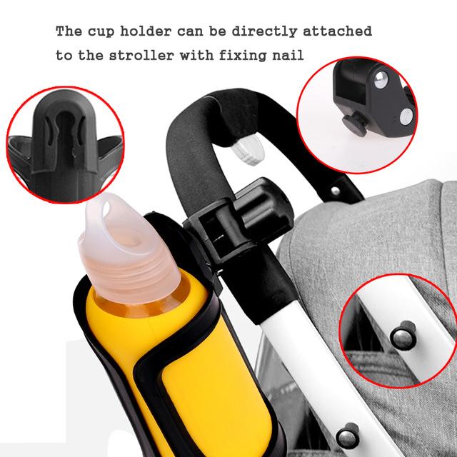 Baby Bottle Holder Stroller Accessories Stroller Milk Bottles Rack Cup Holder For Pram Bicycle Bike Child Car Trolley Cup Stand