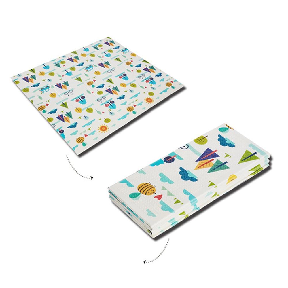 Infantile brillant enfants tapis de jeu pliant Puzzle tapis de jeu tapis de jeu pour les nourrissons 200*150*1 cm mousse ramper tapis Pack et jouer matelas 1 p