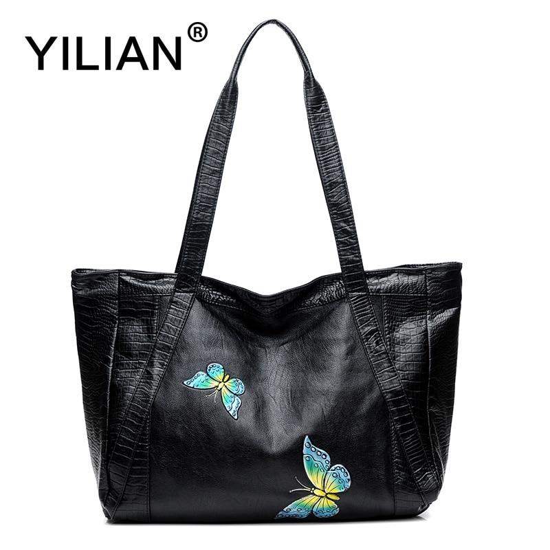 8b8d1acc8504 Yilian Винтаж цветок Сумки для женщины новый Повседневное сумка модная  кожаная сумка женские офисные Сумки 0423