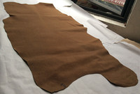 Brown Genuine Pig Split Leather Material Wholepiece