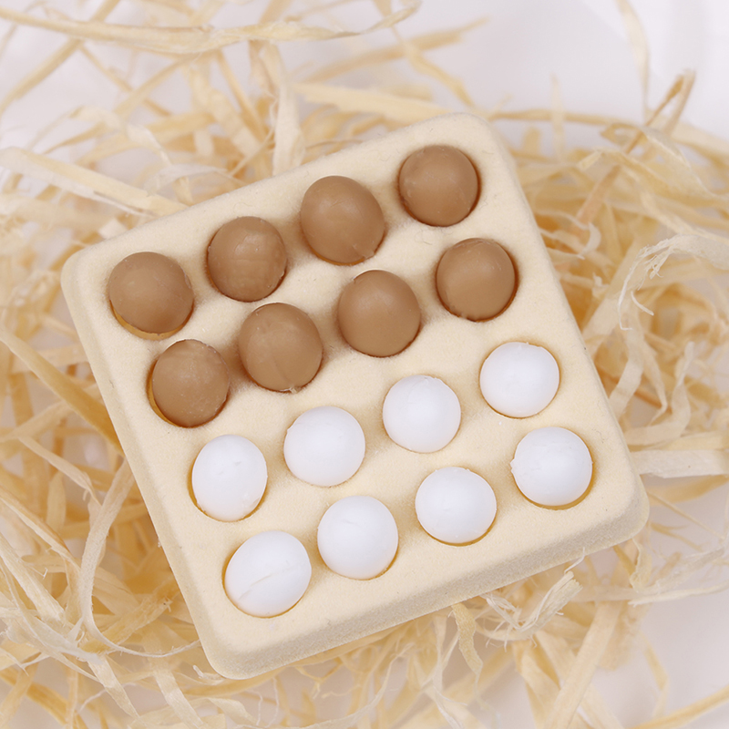 1:12 Collectible A Dozen Egg Gift Tray Candy Food Toy Match For Families Furniture Toys Dollhouse Miniature