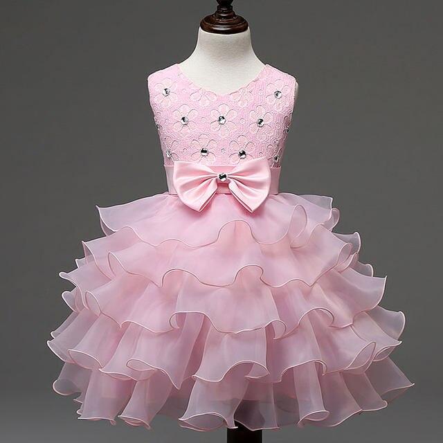 Tienda Online Verano vestido de niña para la boda partido diamantes ...
