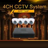 Hiseeu AHD 720P CCTV Camera DVR System Kit 4 Channel CCTV DVR HVR NVR 3 In