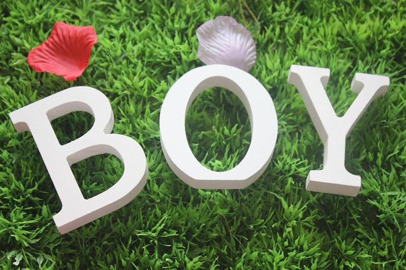 Бесплатная доставка, пользовательские письма стоял деревянный Boy письма знак доска украшение подарок ребенку на день рождения украшения п...