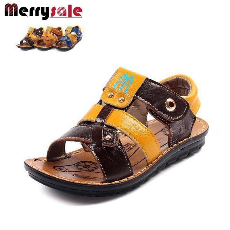 2017 child sandals children shoes genuine leather cowhide male children sandals
