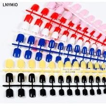 Color false nail , square false nail 24 pcs/ set red pink black etc for daily use