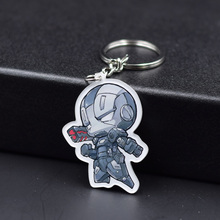 Ironman Spider man Keychain 7 Styles Fashion Jewelry Key Chains Hot Sale The Avengers Custom made Movie Key Ring FQ1