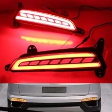 3 функции светодиодные задние фары дальнего света для Hyundai creta IX25 2015 2016 светодиодные стоп-сигналы заднего бампера лампы поворота сигнала свет