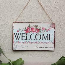 Free ship New Metal Tin signs Vintage WELCOME Doorplate plaque Iron Plate Retro Poster Antique Pub Bar Cafe Home Decoration