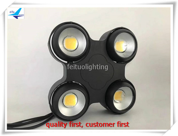 (Flight case)New warm white 4x100W cob led audience blinder light waterproof led stage light flight case