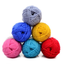 2Pcs/lot Hot 4 strands of milk and cotton Medium coarse wool baby yarn Knit Blanket Hats Scarves Crochet Thread QW024