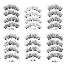 купить 3D Magnetic False Eyelashes Glue Free Four Magnets False Eyelashes Natural Eyelashes Makeup Beauty Tools в интернет-магазине