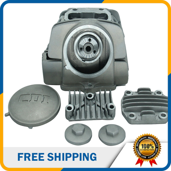 Motorcycle Parts Accessories 125cc Air-cooled Cylinder Head With 5 Caps For Zongshen Yinxiang Horizontal 125cc Engine