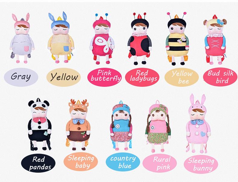 метоо дети детские сумки мультфильм животные игрушки куклы дети сумка для детского сада анжела с кроликом для девочек панда плюшевые рюкзаки