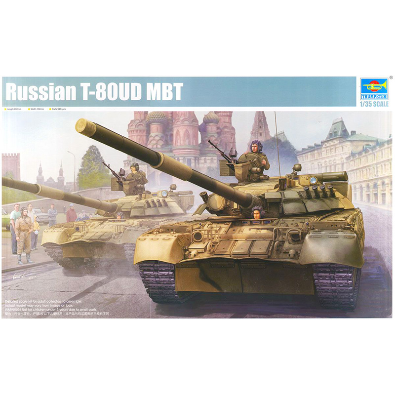 Trumpet 09527 1:35 Russian T-80UD main battle tank Assembly model 1 32 fov80318 russian t 34 85 tank