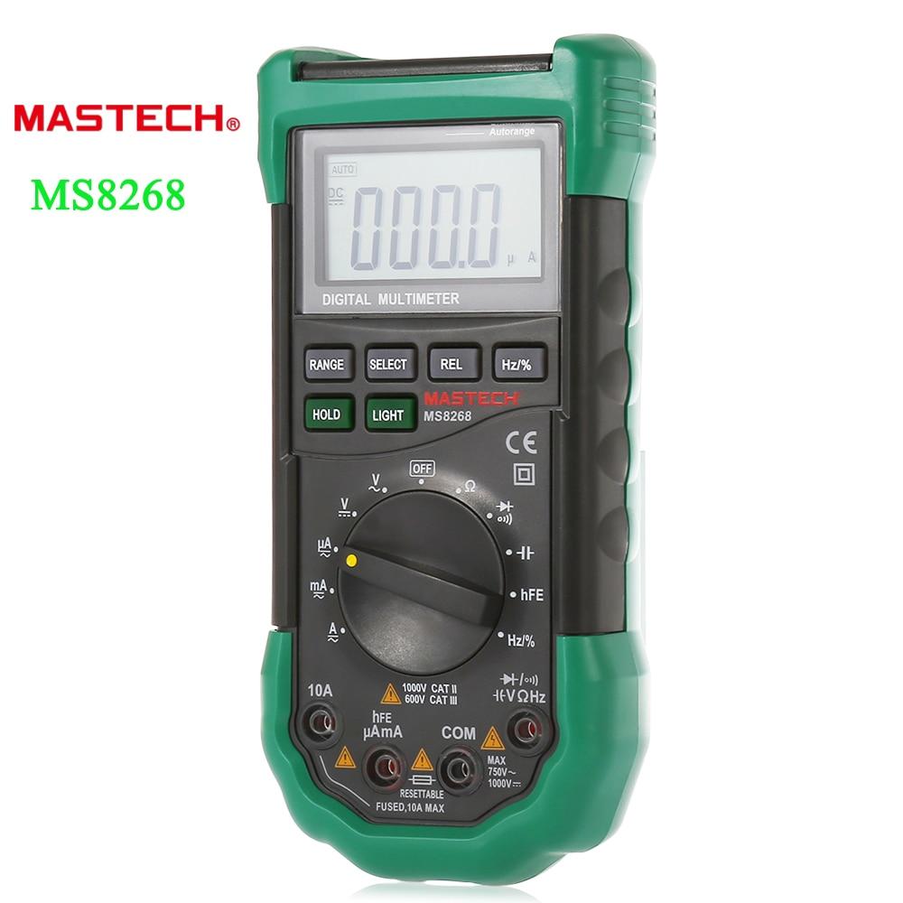 Mastech Ms8268 Digital Multimeter : Mastech ms auto range lcd digital multimeter full