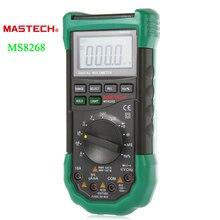 MASTECH MS8268 Авто Диапазон ЖК-Цифровой Мультиметр Полная защита AC/DC Вольтметр Амперметр Ом Емкость НТС Электрический Тестер(China (Mainland))