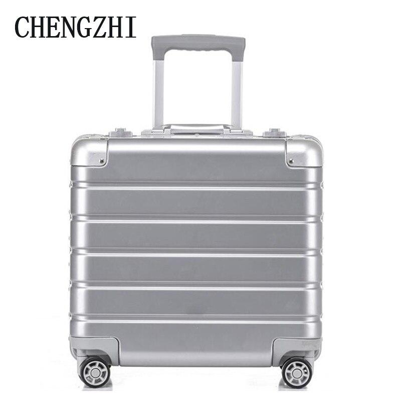 "CHENGZHI 18"" inch women laptop hand luggage men business cabin suitcase trolley bag on wheels"